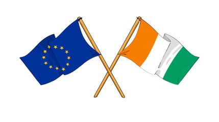 European Union and Ivory Coast alliance and friendship