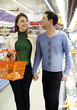 Couple shopping in the supermarket