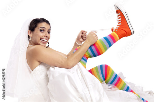 Funny bride shoes