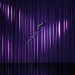 Purple luxury curtains, art performance stage, theater awards