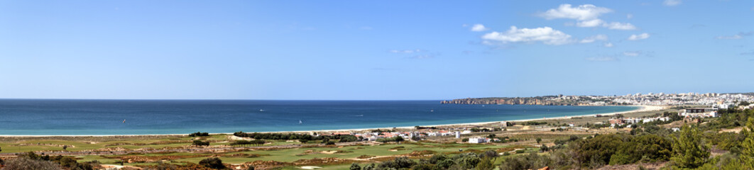 Panorama landscape at Lagos in the Algarve Portugal