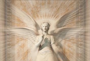 Statue of woman angel.
