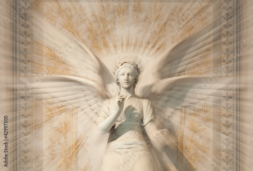 Statue of woman angel.