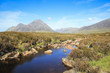 glen coe river highlands scotland