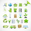 Collection Eco Design Elements, Isolated On White Background