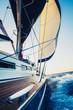 Fototapete Schönheit - Blau - Segelboot