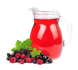 Sweet berries and juice