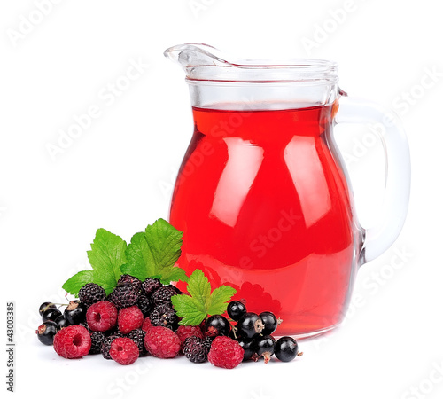 Sweet berries and juice
