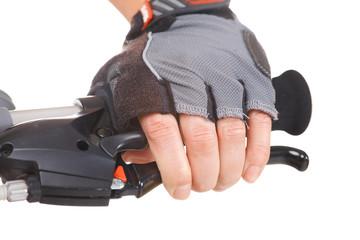 Hand pushing brake lever