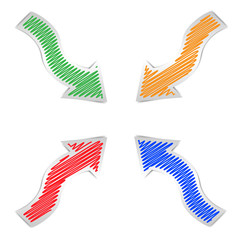 Set of colour arrows