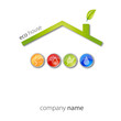 Logo house casa eco clima #vector