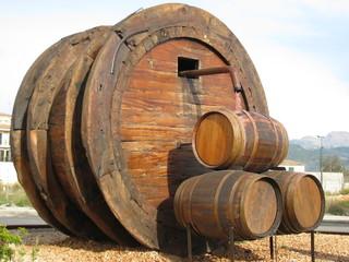 Weinfass Rotwein Weinfest