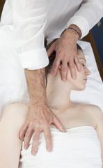 head neck chest massage