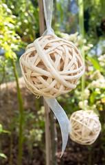 white woven ball