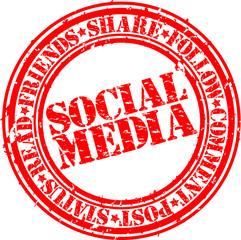 Social media rubber stamp,vector illlustration