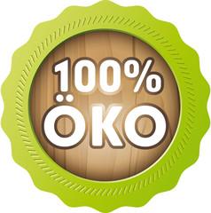 wooden button with 100% öko