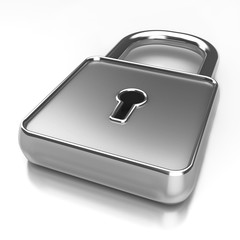 3d rendered image of padlock