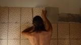 tiler at work gluing mosaic tiles poster