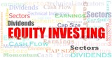 Equity investing cloud financial concept poster