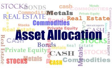 Financial concept asset allocation word cloud