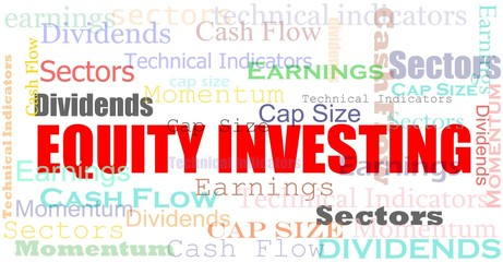 Equity investing cloud financial concept