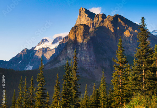 Canadian wilderness with Rocky Mountains, Alberta, Canada