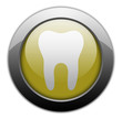 "Yellow Metallic Orb Button ""Dental Medicine / Dentistry"""