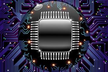Circuito Elettronico Scheda Computer Motherboard Circuit