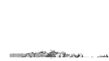 Crumbling concrete wall