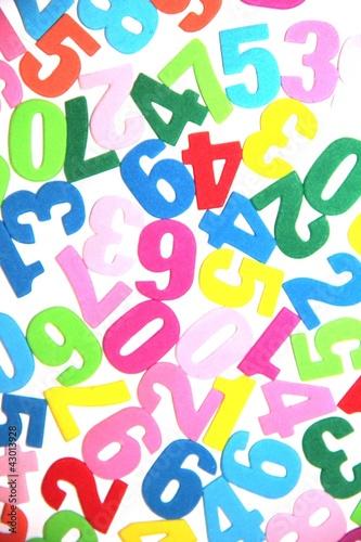 chiffres en couleur