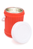thermos flask and lid with clipping path