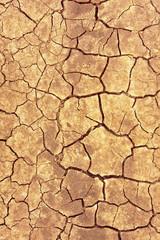 Cracks on dry ground