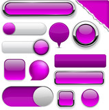 Purple high-detailed modern buttons.