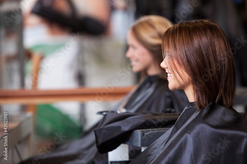 Women Sitting in Beauty Salon