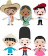 Multicultural children holding hands