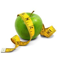 Apfel und gelbes Maßband 01