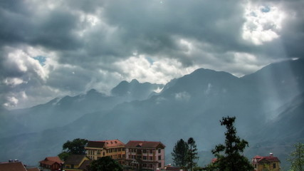 Hotels in mountains time lapse