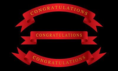 Red ribbon congratulations