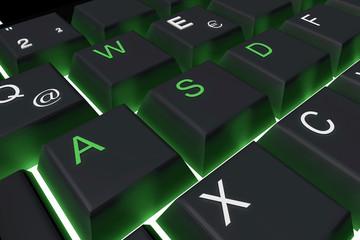 Tastatur grün