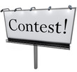 Contest Word on Billboard Raffle Drawing Lottery