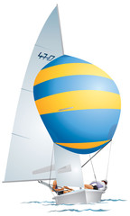 Yacht 470-class dinghy