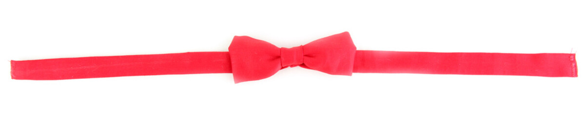 Red bow-tie isolated on white