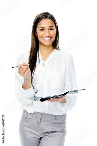 Businesswoman with personal organizer