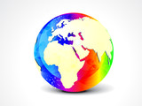 abstract colorful globe