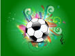abstract football background with floral