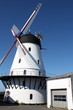 White windmill on the Danish island Bornholm