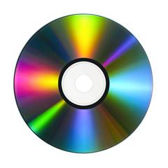 CD/DVD mit bunten Reflektionen