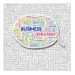 Word cloud of business and creative text