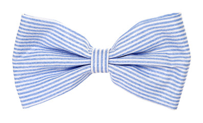 Bow tie with blue stripes