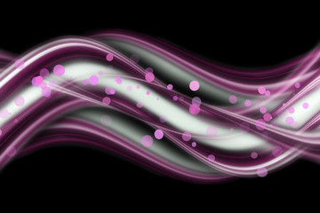 abstract elegant wave design with bubbles